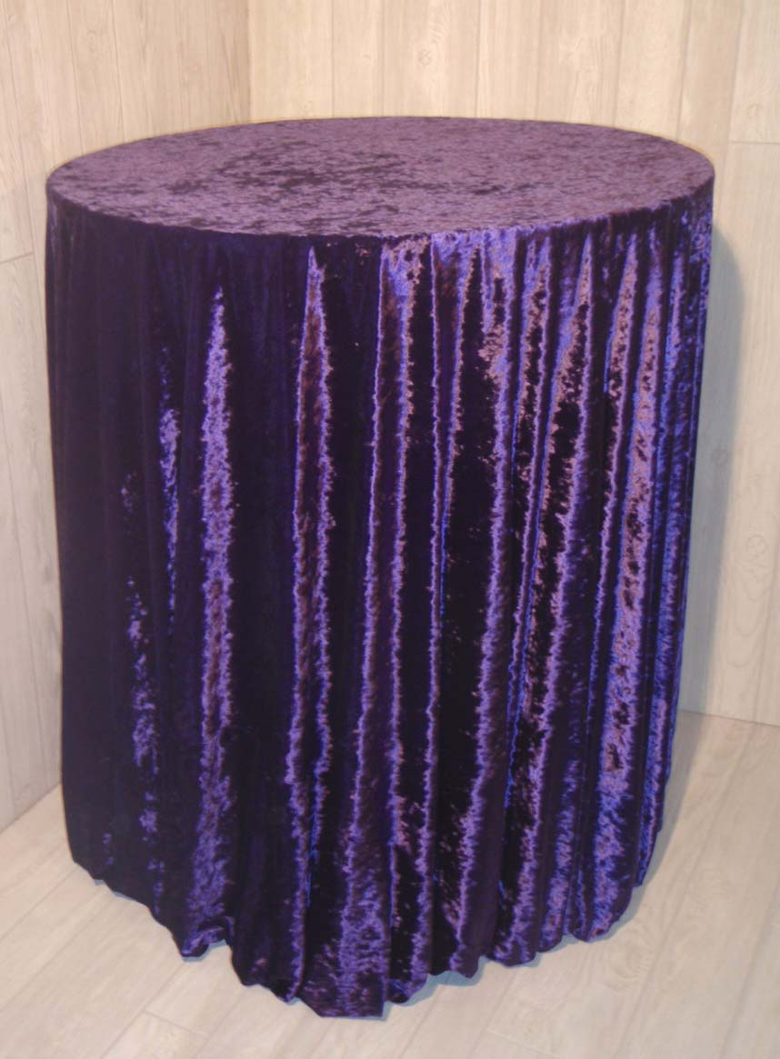 Purple Velvet Round Table Cloth